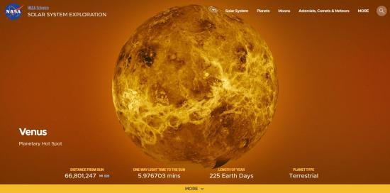 nasa solar system exploration venus