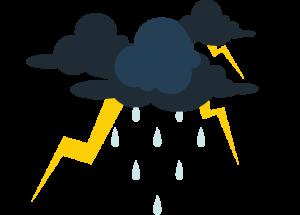 Rainfall Clouds Thunder Lightning