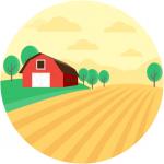 Agriculture Barn Farmhouse Cropland Landscape
