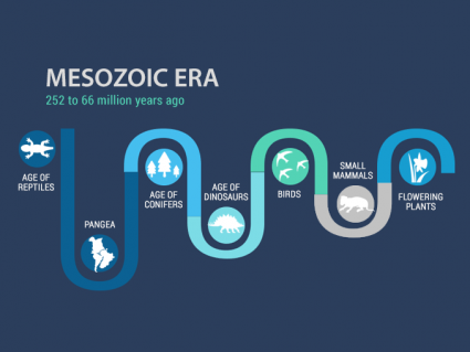 The Mesozoic Era: The Age of Reptiles, Dinosaurs and Conifers