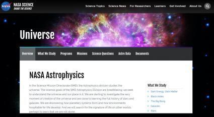 nasa astrophysics