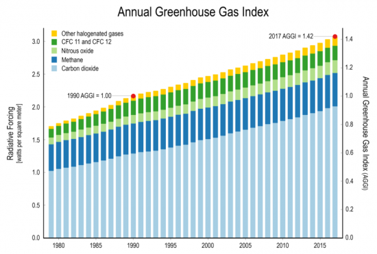 Annual greenhouse gas index