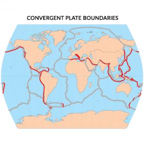 Convergent Plate Boundaries Map