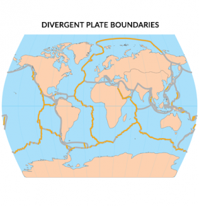 Divergent Plate Boundaries Map