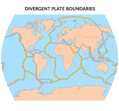 Divergent Plate Boundaries Map