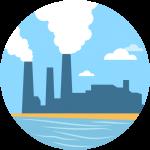 Industrial Factory Smoke Pollution Landscape