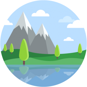 Mountain Trees Reflection Lake Landscape