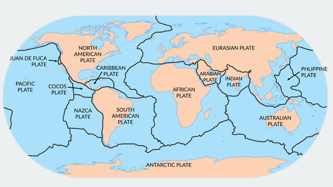 Plate Tectonics Map Major Plates