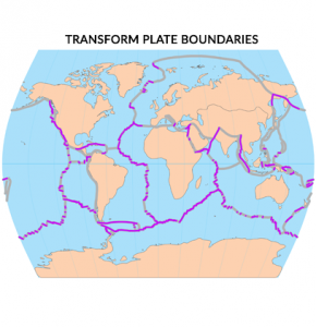 Transform Plate Boundaries Map
