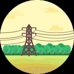 Transmission Line Electricity Landscape