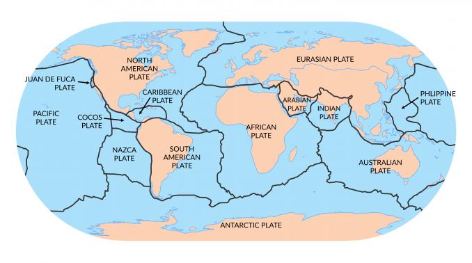 Tectonic Plates World Map 7 Major Tectonic Plates: The World's Largest Plate Tectonics