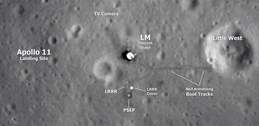 Apollo-11 Landing Site Sea of Tranquility