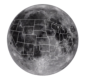 Moon United States Overlay